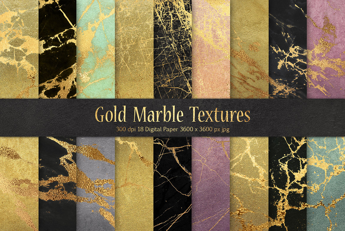 Gold Marble Abstract Backgrounds