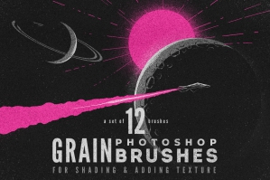 Grain Volume I Photoshop Brushes
