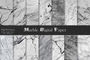 Grey Marble Digital Paper Textures