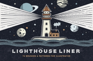Lighthouse Liner Illustrator Brushes
