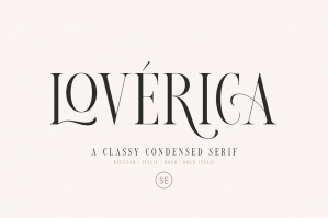 Loverica - Modern Condensed Serif