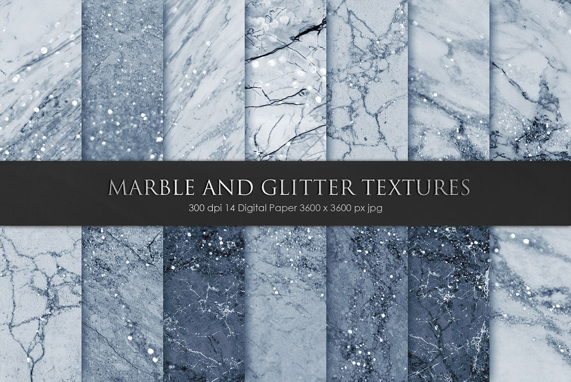 Navy Blue Marble Textures