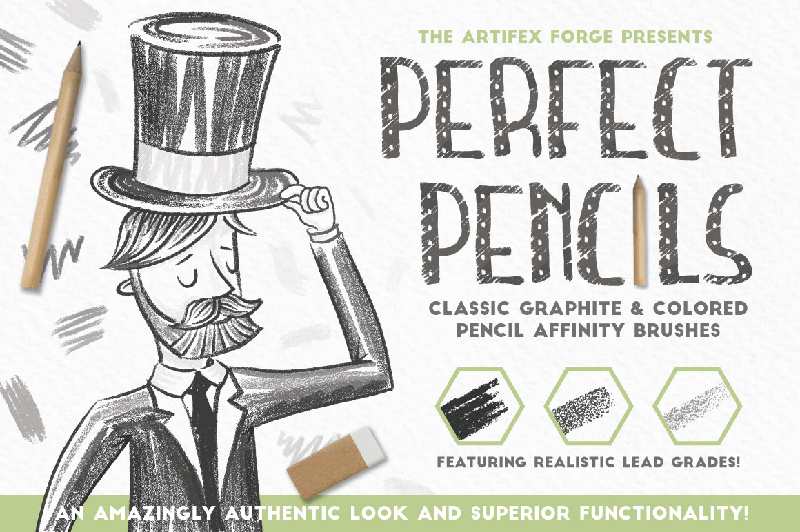 Perfect Pencils - Affinity Brushes