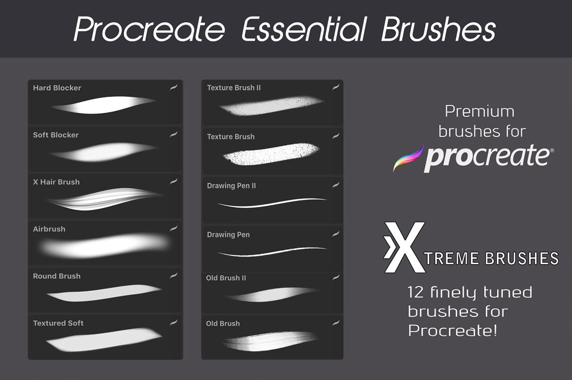 Procreate Essential Brushes!