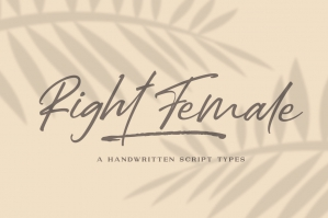Right Female - A Handwritten Font