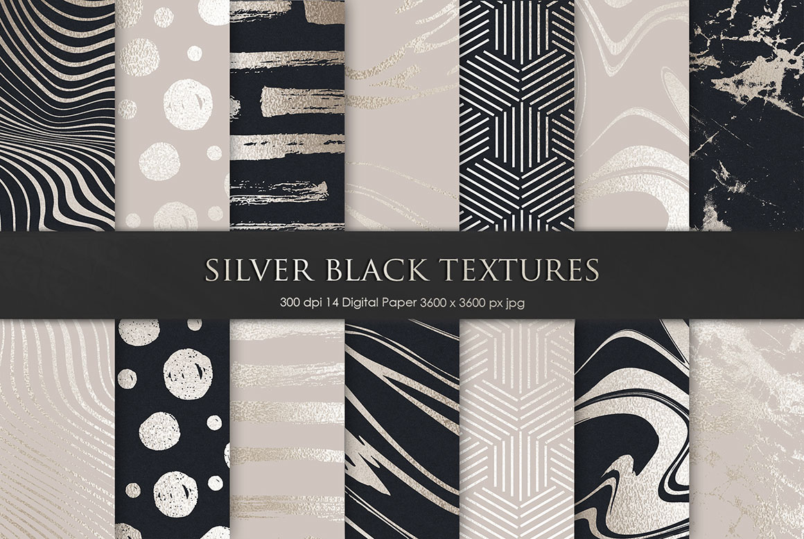 Silver and Black Foil Textures