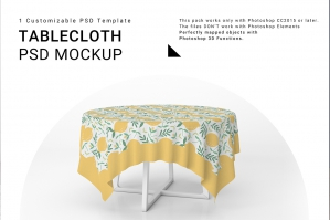 Tablecloth Mockup Set 2