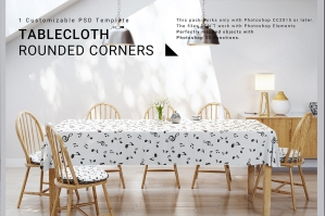Tablecloth with Rounded Corners Set