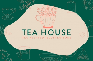 Tea House: Tea Related Illustrations