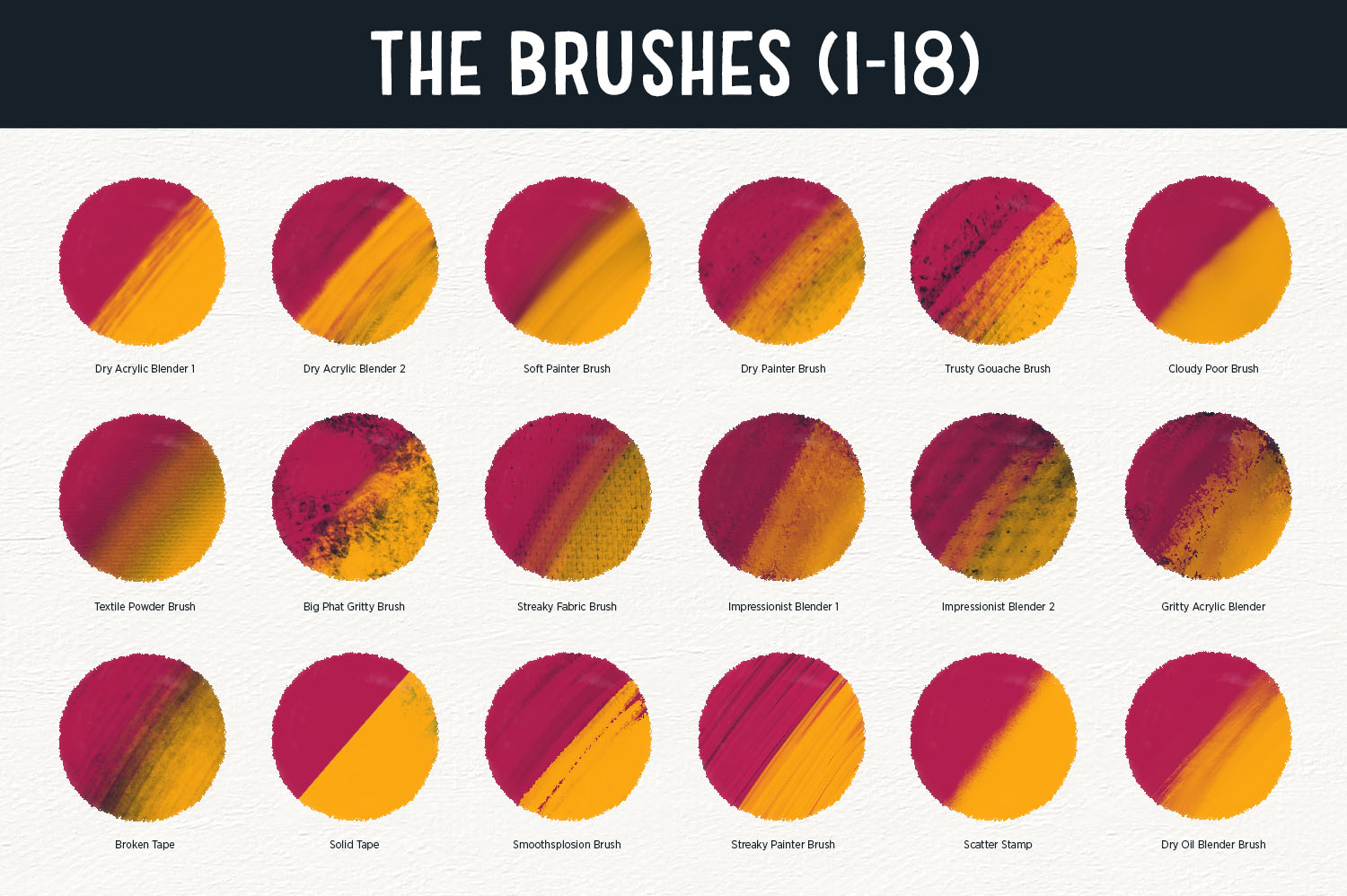 The Brush Bar - 60 Procreate Brushes