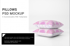 Throw Pillows Mockup Set No. 3