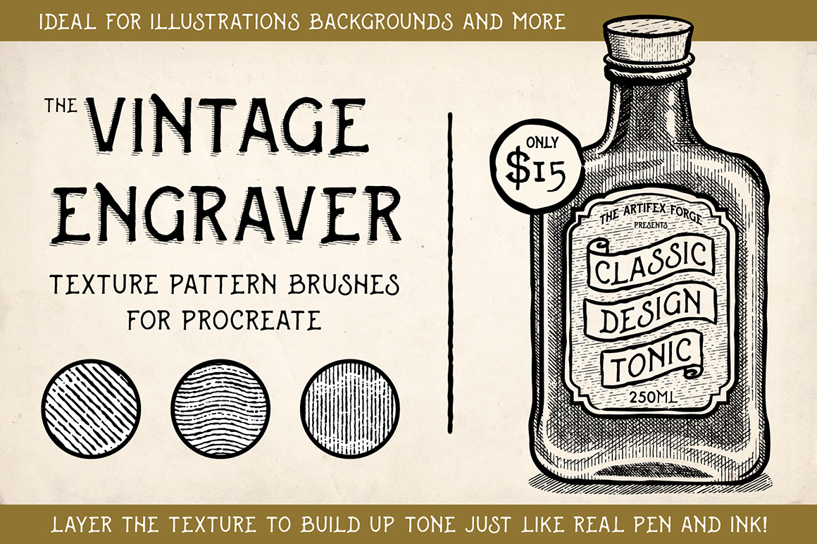 Vintage Engraver - Procreate Brushes
