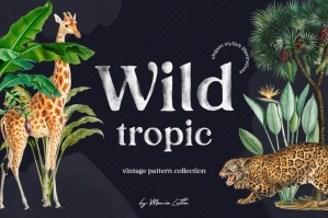 Wild Tropic Vintage Pattern Set