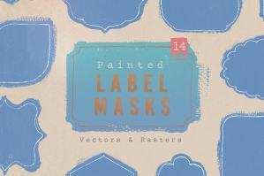14 Painted Label Masks