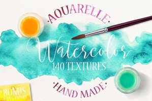 140 Watercolor Textures