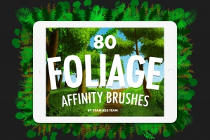 80 Foliage Brushes for Affinity