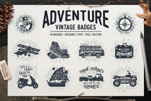 Adventure Vintage Badges - Part 1