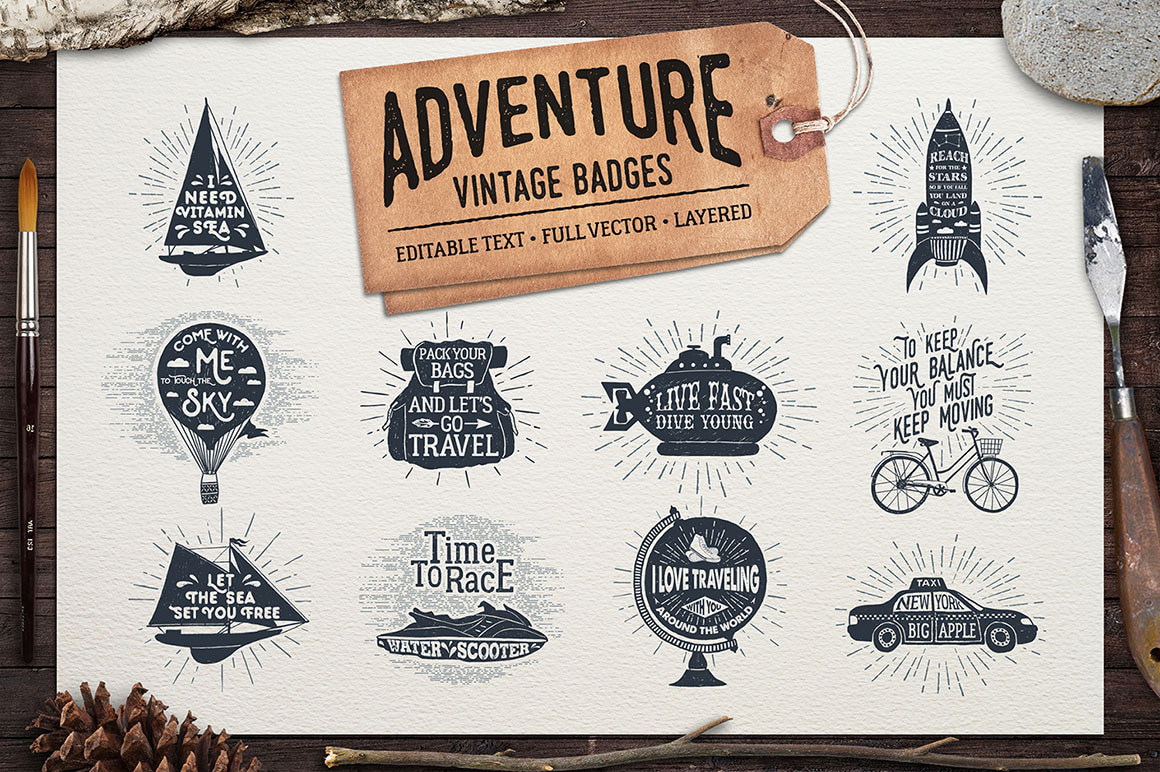 Adventure Vintage Badges - Part 2