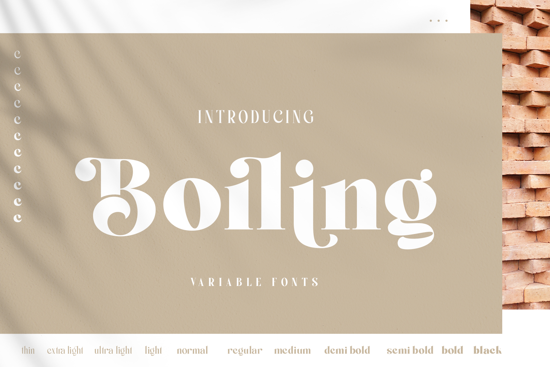 Boiling Variable Fonts