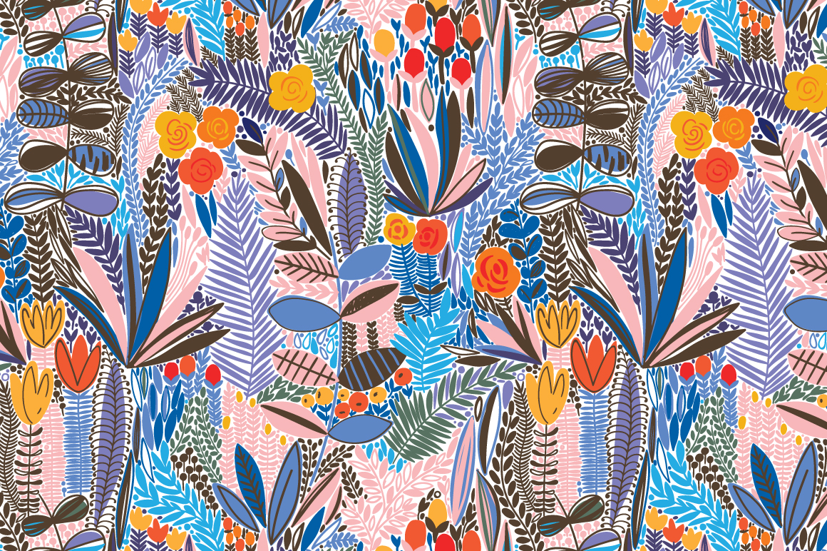 Exotic Flower Pattern