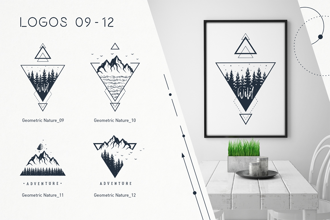 Geometric Nature 20 Creative Logos