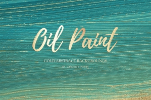 Gold Oil Paint Backgrounds