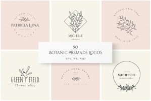 Hand Drawn Botanical Logo Templates