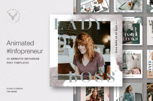 Infopreneur - Animated Instagram Post Templates