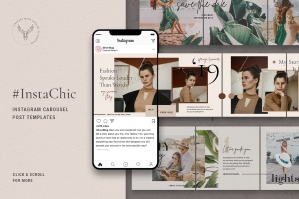 InstaChic - Instagram Carousel Post Templates