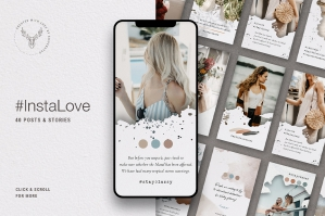 InstaLove Instagram Post & Story Templates