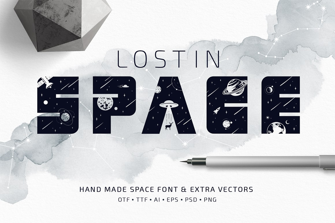 Lost In Space - Regular And Color Font (.SVG)