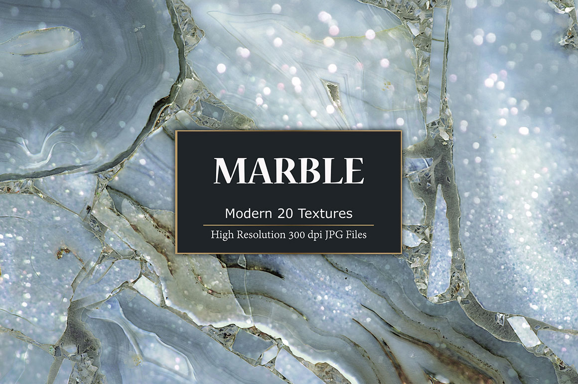 Modern Blue Marble Textures