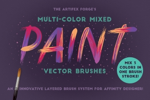 Multi-Color Mixed Paint Affinity Brushes