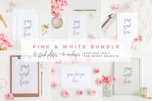 Pink & White Bundle - Mockups