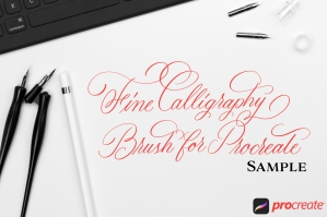 HOMwork Freebie: Procreate Fine Calligraphy Brush