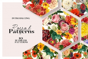 Royal - Seamless Flower Patterns