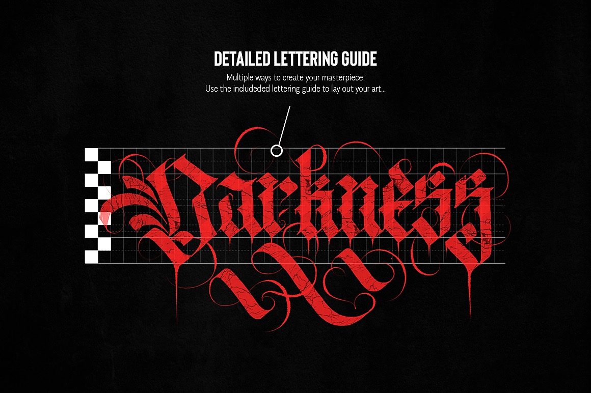 Ultimate Gothic Calligraphy Marble Brush Toolkit