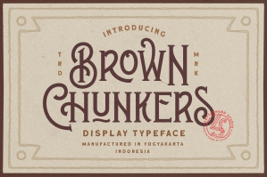Brown Chunkers - Display Typeface