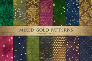 Vintage Gold Patterns