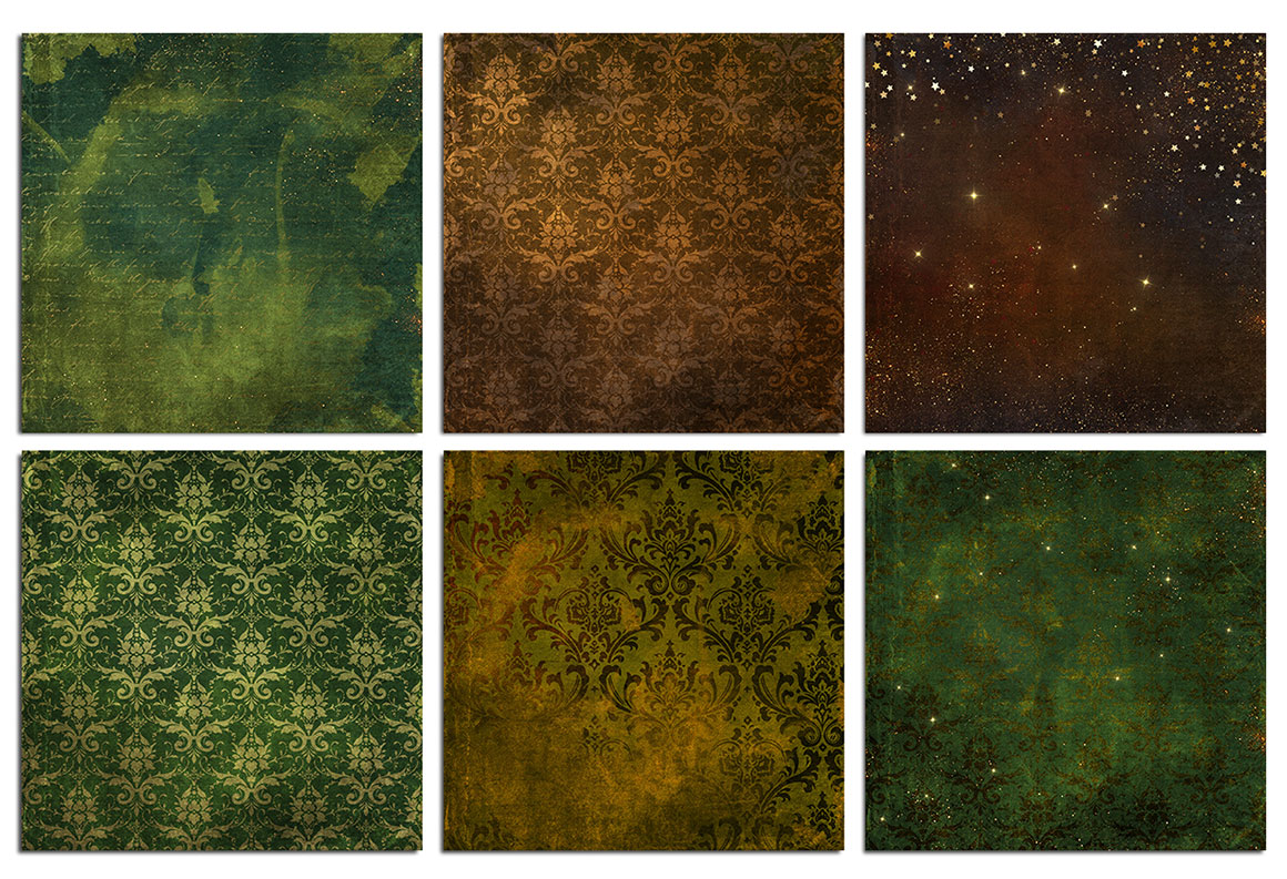 Vintage Gold Watercolor Patterns