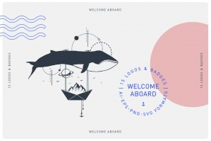 Welcome Aboard - 15 Logos & Badges