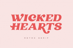 Wicked Hearts Retro Serif