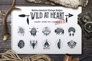 Wild at Heart - 10 Vintage Badges Part 2
