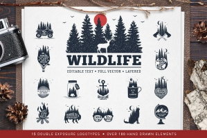 WildLife 15 Double Exposure Badges