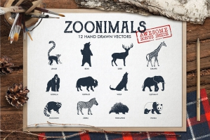 Zoonimals - 12 Hand Drawn Animals