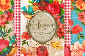 Heart & Soul - Flowers & Frames Kit