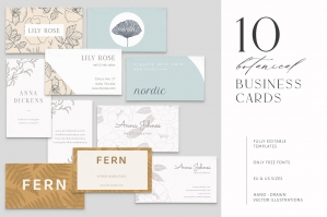 10 Botanical Business Cards & Logos