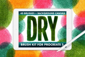 40 Dry Brush Kit for Procreate 5