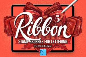 5 Ribbon Affinity Stamp Brushes