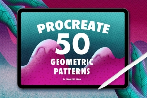 50 Geometric Pattern Brushes for Procreate